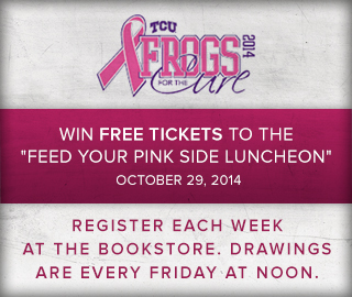 TCU 2014 Pink Frogs for the cure. Win free tickets to the