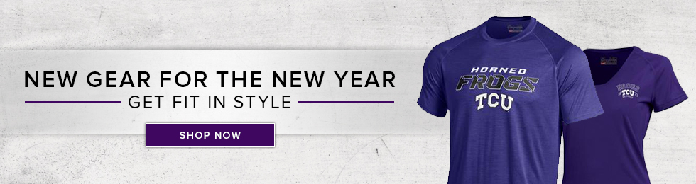 Picture of athletic shirts. New gear for the New Year, get fit in style. Click to shop now.
